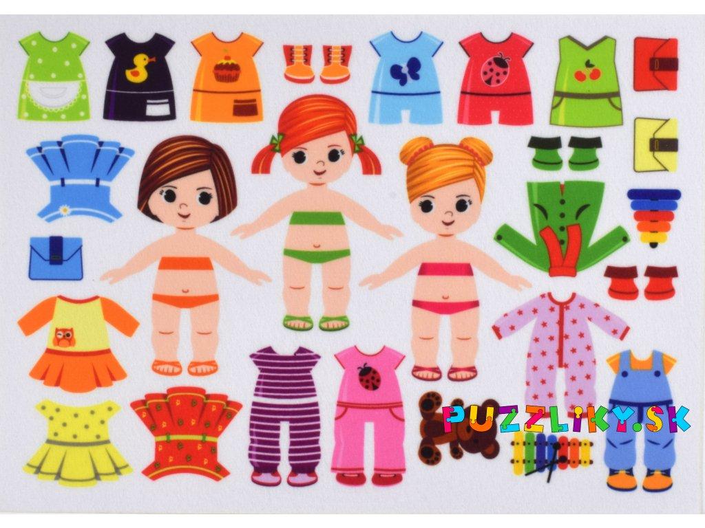 Obliekanie dievčatá 10 cm - plstený panel