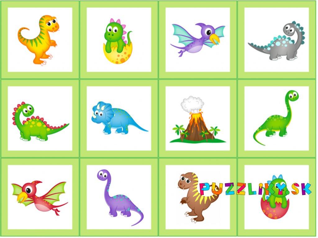Dinosaury - bavlnený panel