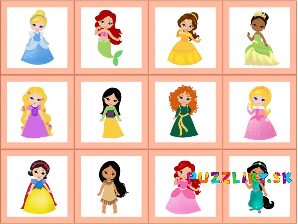 Princezny - bavlnený panel