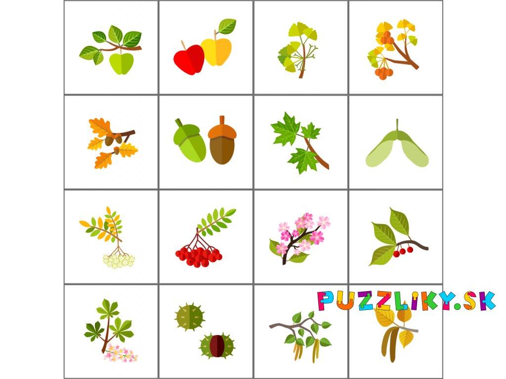 Stromy a plody - bavlnený panel
