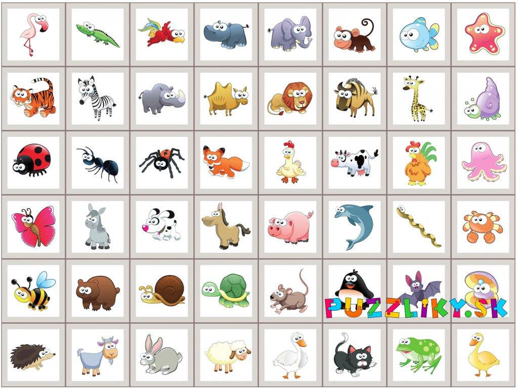 Zvieratká Okaté - bavlnený panel
