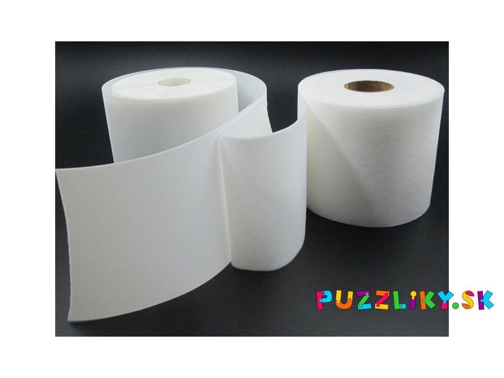 Detský suchý zips 10 cm - biely/priesvitný/průhledný s atestom