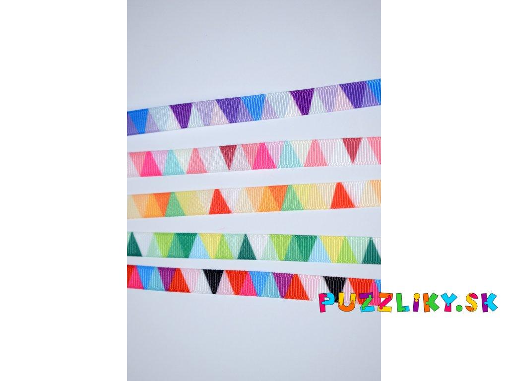 Rypsové stuhy trojuholníkové