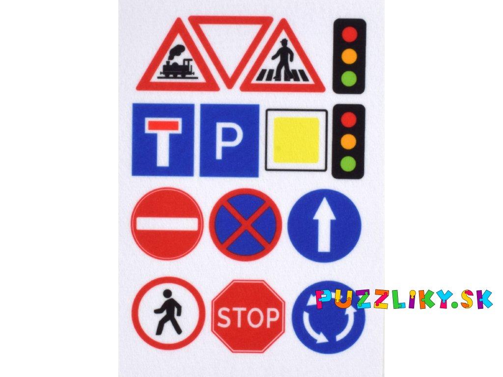 Dopravné značky - plstený panel