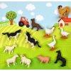 Figúrky zvierat a stavieb k hracím podložkám