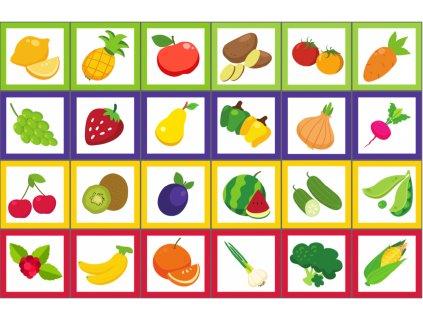 Ovocie a zelenina - bavlnený panel