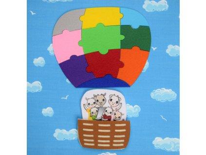 Balón z puzzlíkov - výrezy