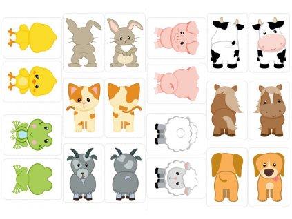 Zvieratká - maňuška/maňásek - plstený panel
