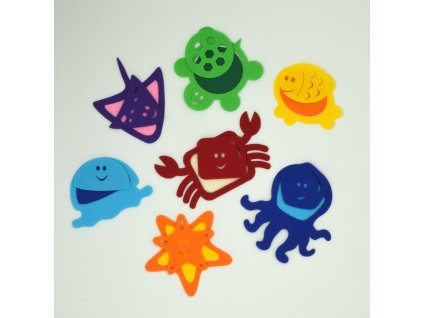 Morské dúhové zvieratká a tvary - výrezy