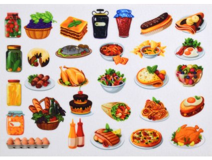 Jedlo Hotovky - plstený panel