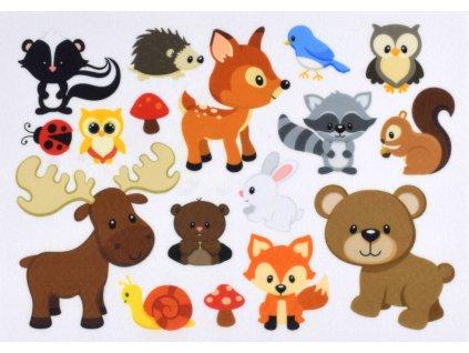 Zvieratká Les - plstený panel