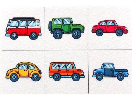 Autá/Nákladiaky ako skladačka - plstený panel