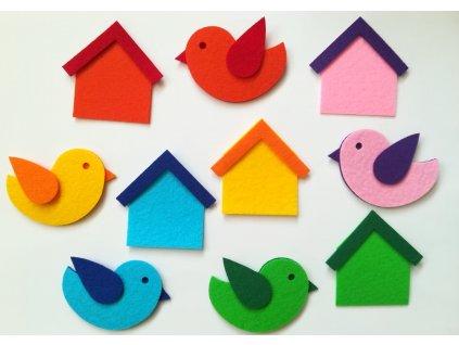 Vtáčiky/Ptáčky s búdkami - výrezy