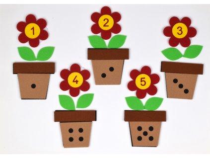 Kvetinky s číslami - výrezy
