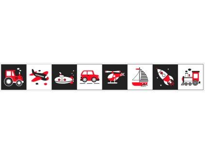 Doprava Čiernobiela Sada 8 x 20x20cm na Patchwork/Mantinel - bavlnený panel