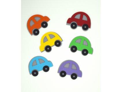 Farebné autíčka - výrezy