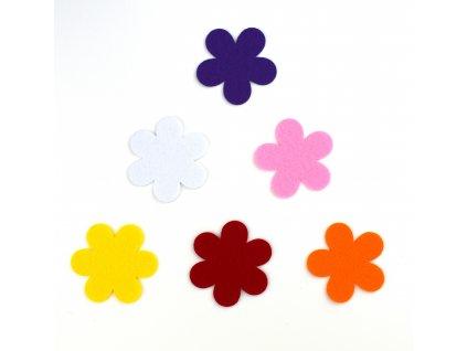 Farebné kvetinky - výrezy