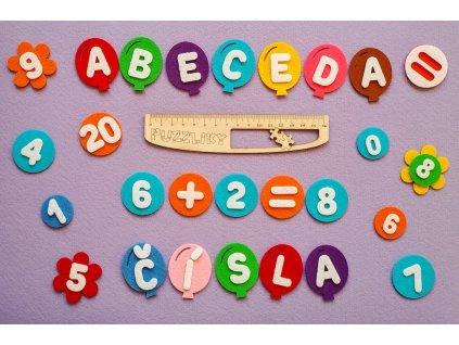 Čísla, znamienka, symboly - výrezy