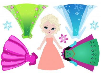 Ľadová princezná + šaty - plstený panel