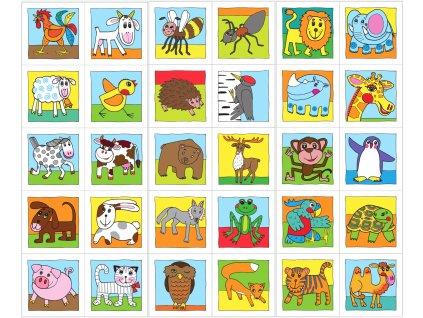 Výlet za zvieratkami - Farma, Les, Zoo - bavlnený panel