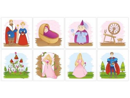 O Šípkovej Ruženke - bavlnené kartičky