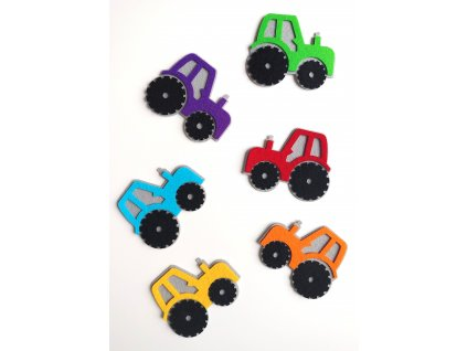 Farebné traktory - výrezy