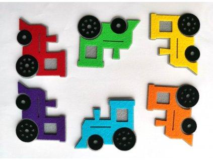 Farebné lokomotívy/mašinky - výrezy