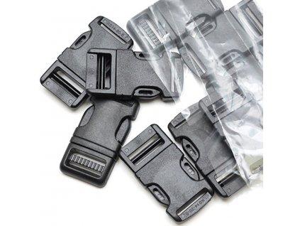Plastová zaoblená spona trojzubec biela/čierna - rôzne veľkosti