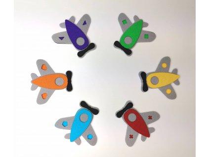 Farebné lietadla/letadla - výrezy