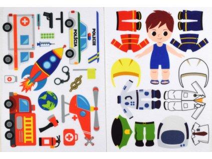 Obliekanie chlapec povolania - doplňovačka - plstený panel