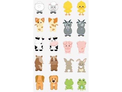 Zvieratká - Maňuška/Maňásek - bavlnený panel