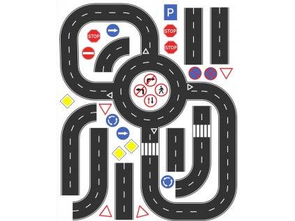 Cesty - bavlnený panel