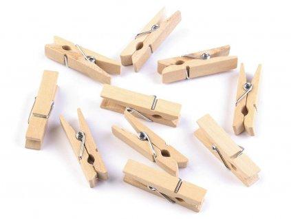 dreveny kolicek jednobarevny 7x35 mm