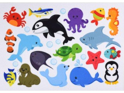 Zvieratká Voda/More/Oceán - plstený panel