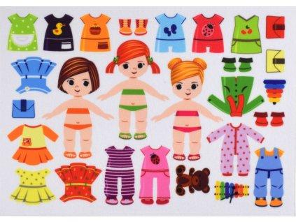 Obliekanie dievčatá/holky 10 cm - plstený panel