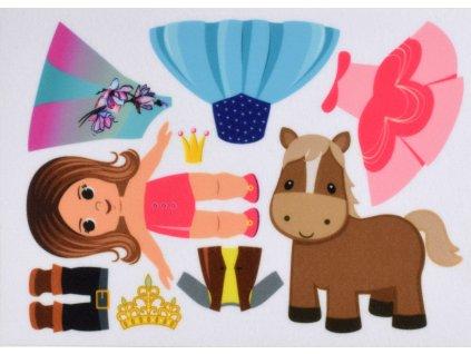 Princezná vo variantách - plstený panel