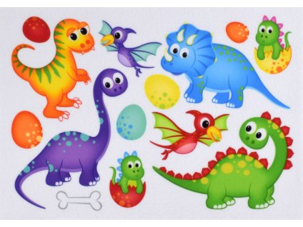 Dinosaury - plstený panel