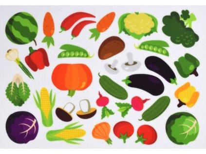 Zelenina - plstený panel