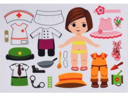 Dievčatko doktorka, policajtka, baletka, záhradníčka, kuchárka - plstený panel