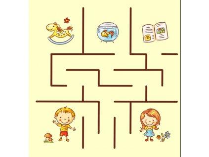 Bludisko Chlapček a Dievčatko - bavlnený panel