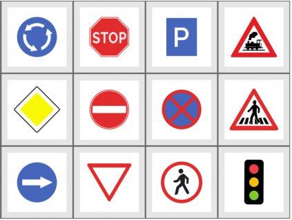 Dopravné značky - bavlnený panel