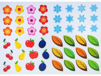 Ročné obdobia - plstený panel
