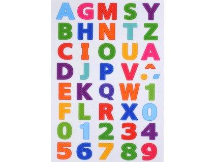 Písmená, čísla a číslice - plstený panel