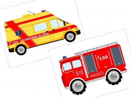 Záchranné vozidlá - bavnený panel
