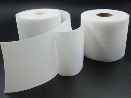 Detský suchý zips 10 cm - biely/priesvitný