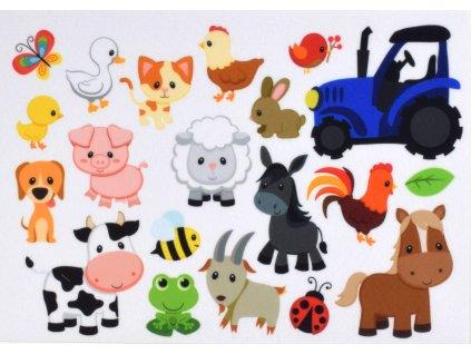 Zvieratká Farma - plstený panel