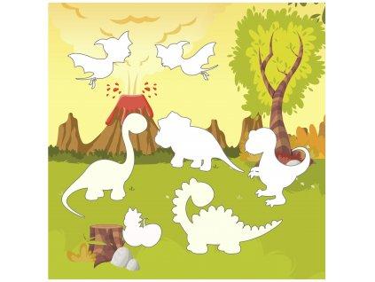 """Doplňovačka """"Dinosaury"""" ako stránka - bavlnený panel s plsťou"""