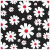 Čiernobiele panely 20x20cm na Patchwork/Mantinel - bavlnený panel