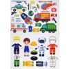 Obliekanie chlapec/kluk povolania - doplňovačka - plstený panel