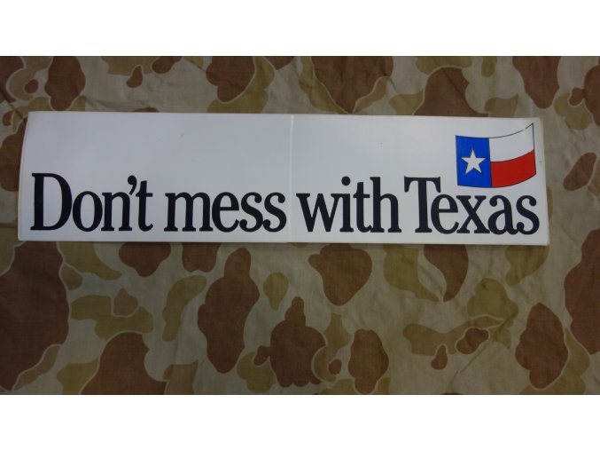 4019 nalepka do not mess with texas